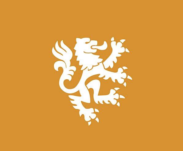 596x491 Lion, White, Snowy, Heraldry, Oranje, Orange, Carroty, Dutch