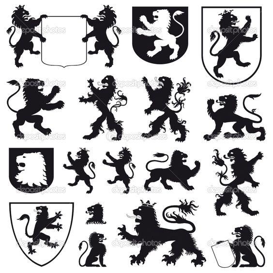 564x564 Clipart Black And White Heraldic Silhouette