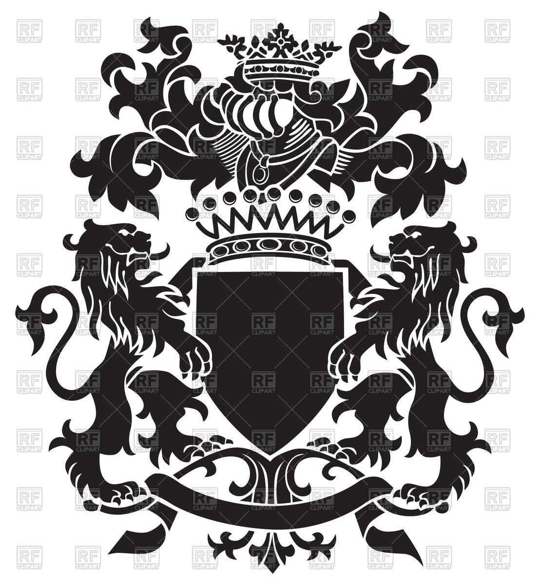 1108x1200 Medieval Heraldic Emblem