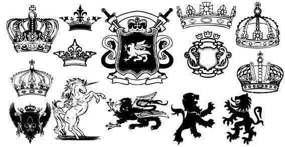 568x294 Unicorn, Lion Heraldic Coat Of Arms Vector 123freevectors
