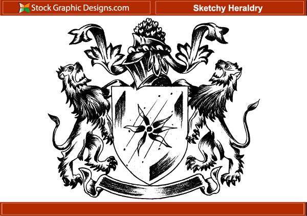 600x422 Free, Vintage Vector, Medieval Heraldry Graphics