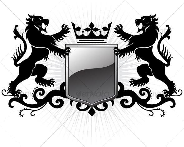 590x472 Lion Crest Vector Free