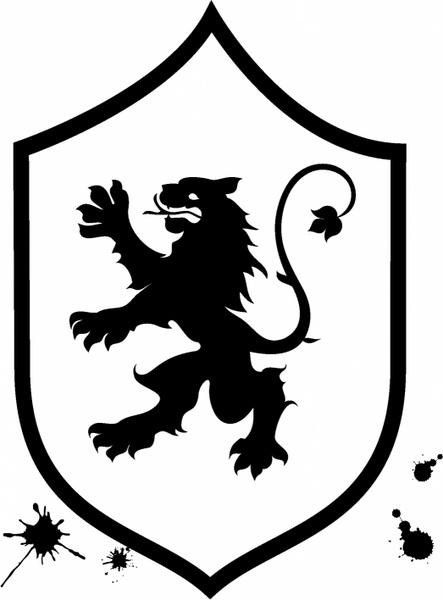 443x600 Lion Shield Free Vector In Adobe Illustrator Ai ( .ai