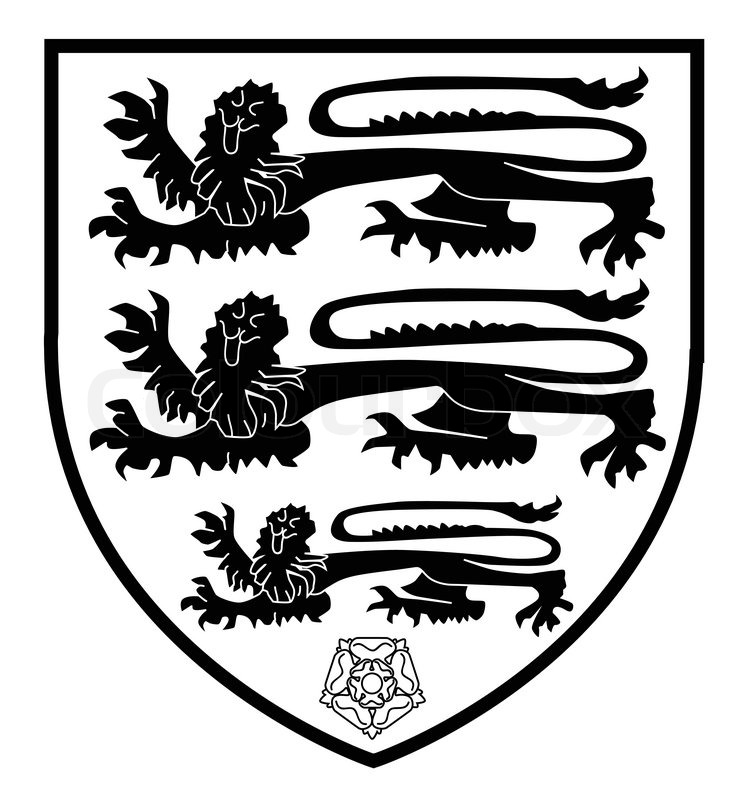 745x800 The Traditional Three Lions British Shield With The Red And White