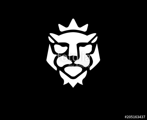500x406 Lion Head Vector. Lion Kings Head Logo. Lion With Crown Logo