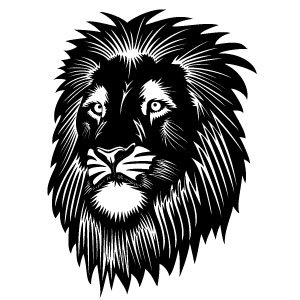 300x300 Lion Head Vector