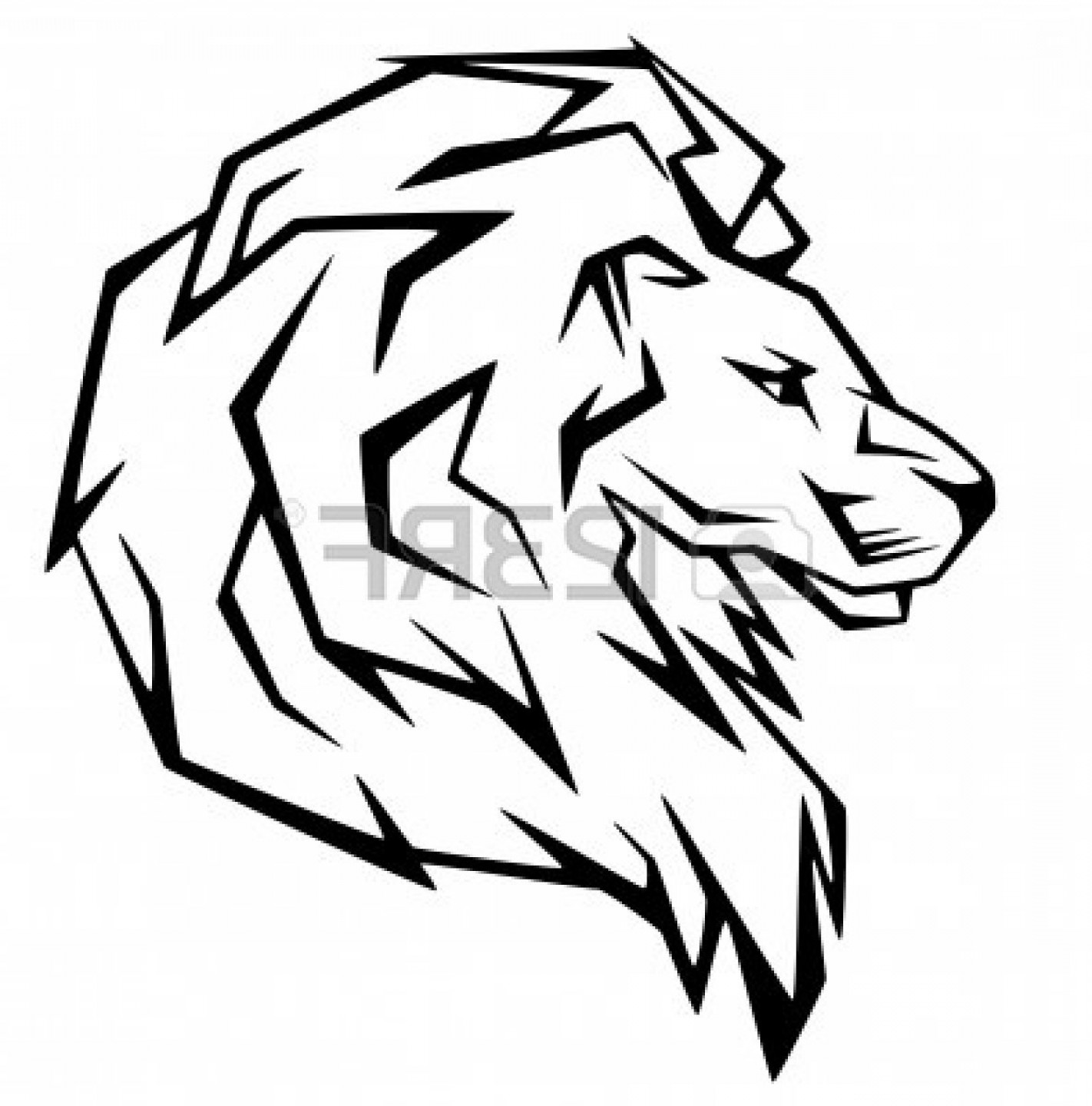 1422x1440 Lion Head Vector Clip Art Sohadacouri