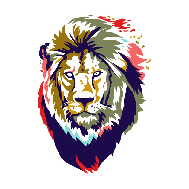 626x626 Lion Head Vector Colour Vector Premium Download