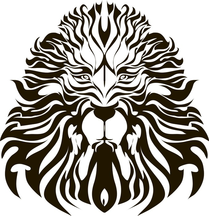 678x700 Lion Head Vector Wardrobe Sticker We Live To Change