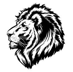 235x234 Lion Head Vector Art Illustration Gravirovka Lions