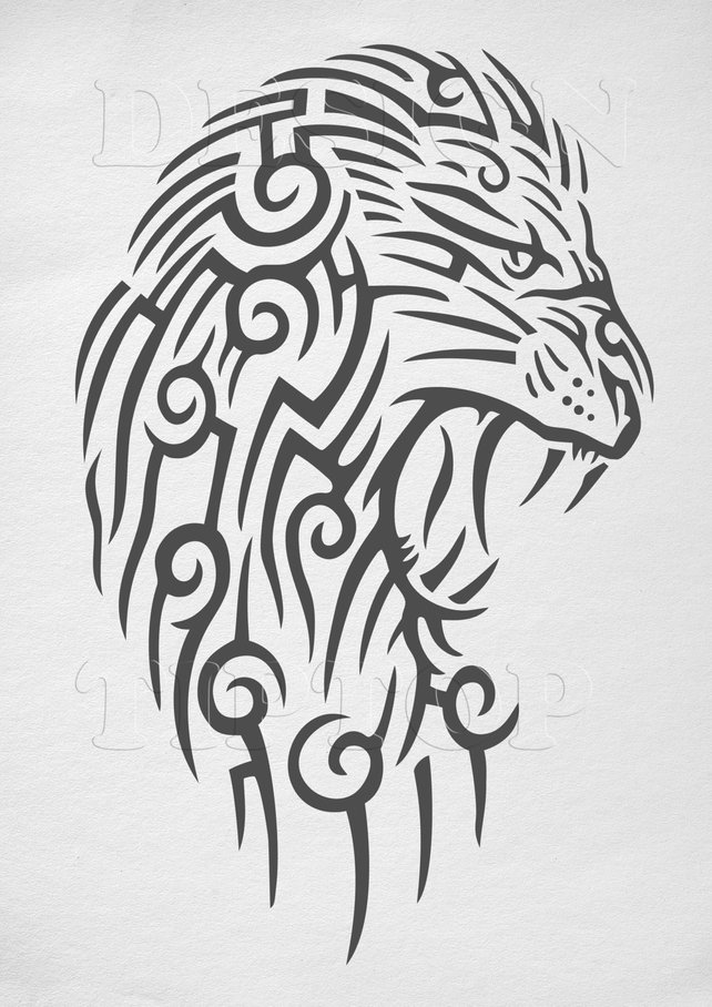 642x908 Lion Svg Lion Head Vector Art Files For Cricut Silhouette Etsy