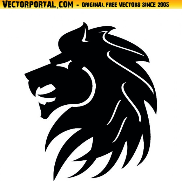 626x624 Lion Head Tribal Style Icon Vector Vector Free Download