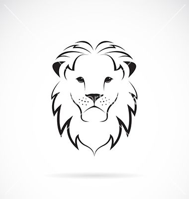 380x400 Lion Head Vector Loin Lions, Silhouettes And Tattoo