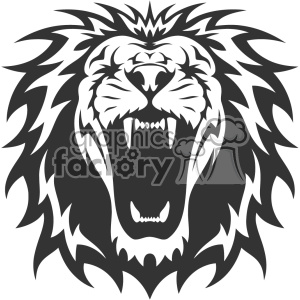300x300 Royalty Free Lion Head Roaring Vector Design 403160 Vector Clip