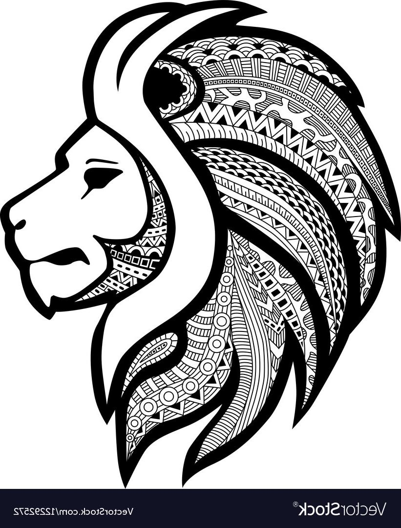 821x1080 Unique Zentangle Stylized Tattoo Profile Lion Head Vector Photos