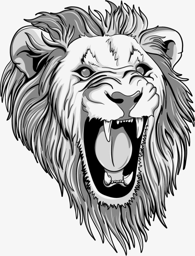 650x852 Vector Painted Lion Head, Lion Clipart, Head Clipart, Vector Png