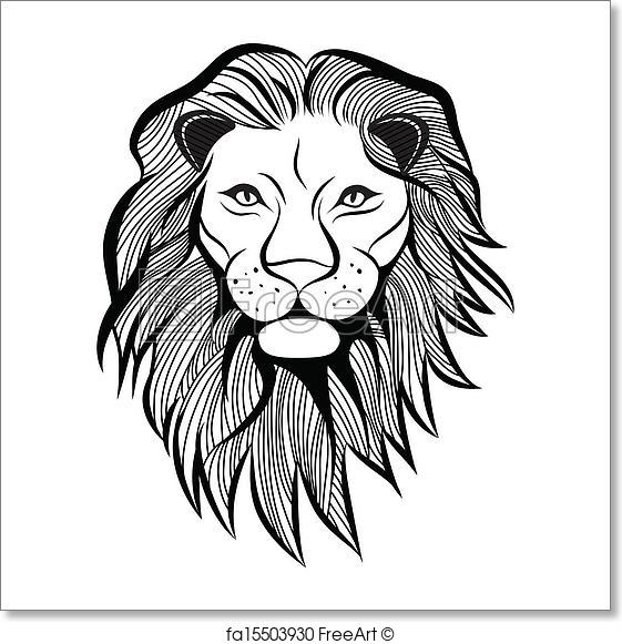 561x581 Free Art Print Of Lion Head Vector Animal Illustration For T Shirt