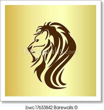 Lion Head Vector Art