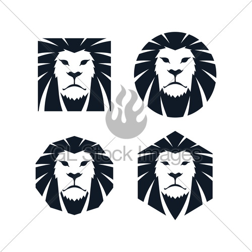500x500 Lion Head Template Gl Stock Images