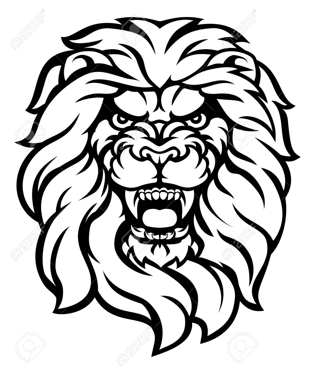 1095x1300 Collection Of Free Etched Clipart Roaring Lion Line. Download On