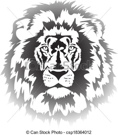 411x470 Lion Head Gradient. Lion Head In Gradient Interpretation .