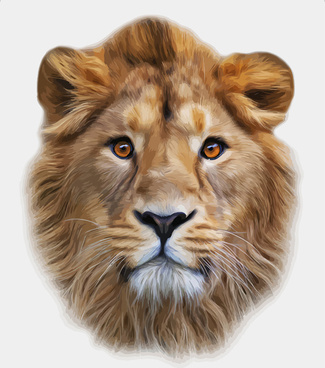 325x368 Lion Head Vector Free Vector Download (2,104 Free Vector) For