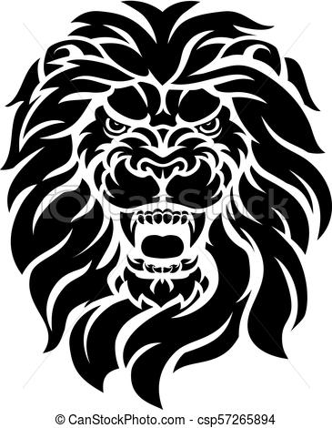 365x470 Mean Lion Head. A Mean Looking Lion Face Roaring