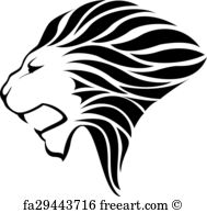 189x194 Free Lion Head Vector Art Prints And Wall Artwork Freeart