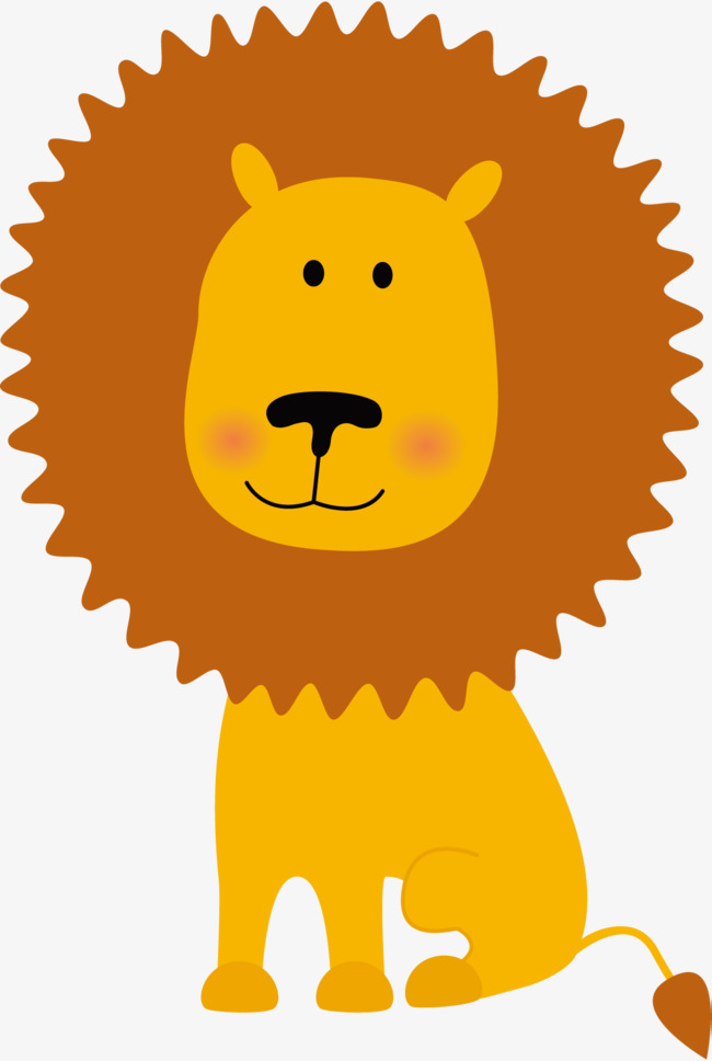 650x968 Yellow Lion Vector, Lion Vector, Lion Clipart, Lion Png And Vector