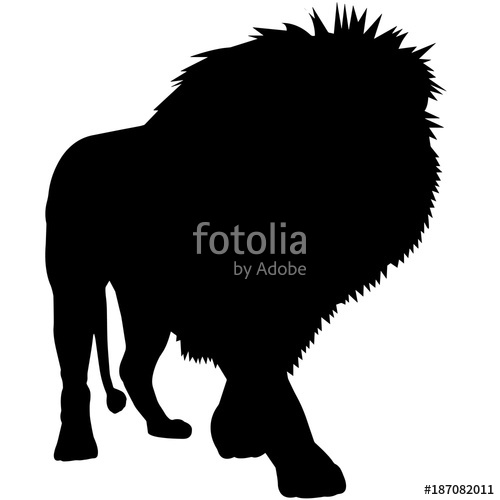 500x500 Lion Silhouette Vector Graphics Stock Image And Royalty Free