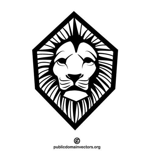 500x500 Lion Stencil Vector Graphics Public Domain Vectors