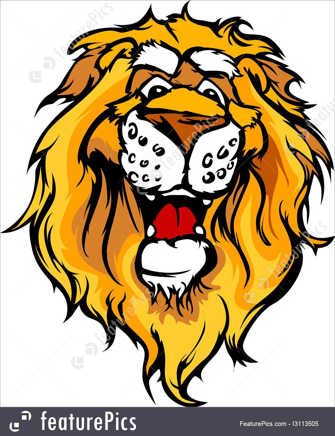 1071x1392 Smiling Cartoon Lion Mascot Vector Graphic