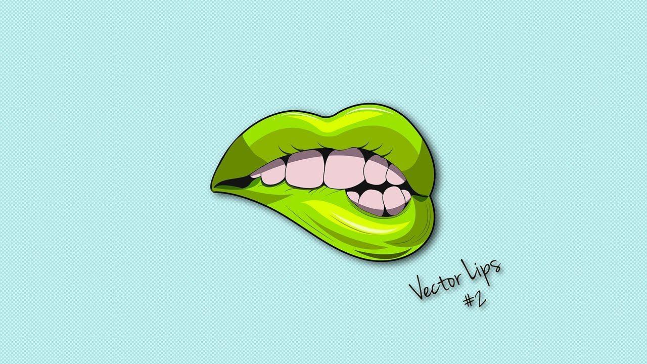 1280x720 Illustrator Tutorial Lips Logo Design Vector Adobe Illustrator