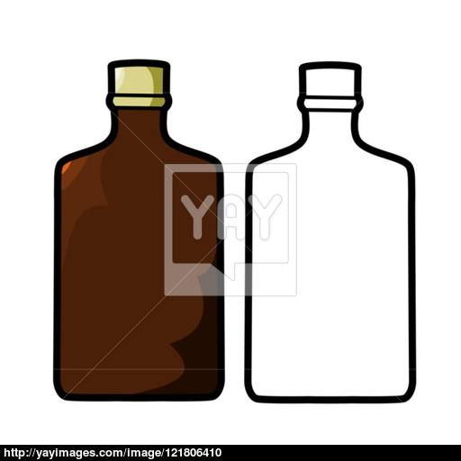 512x512 Liquor Bottle Vector