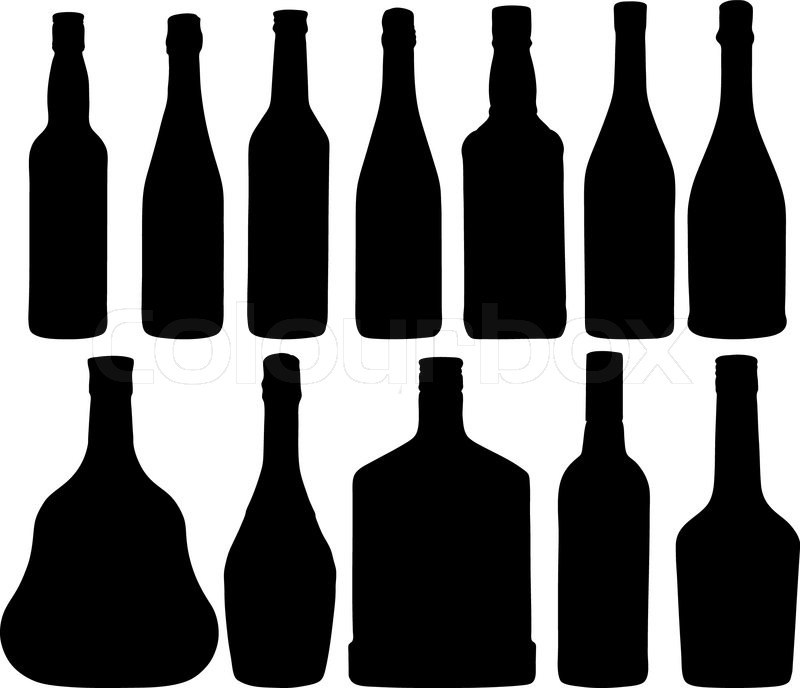 800x688 Abstract Vector Illustration Of The Different Bottles Stock