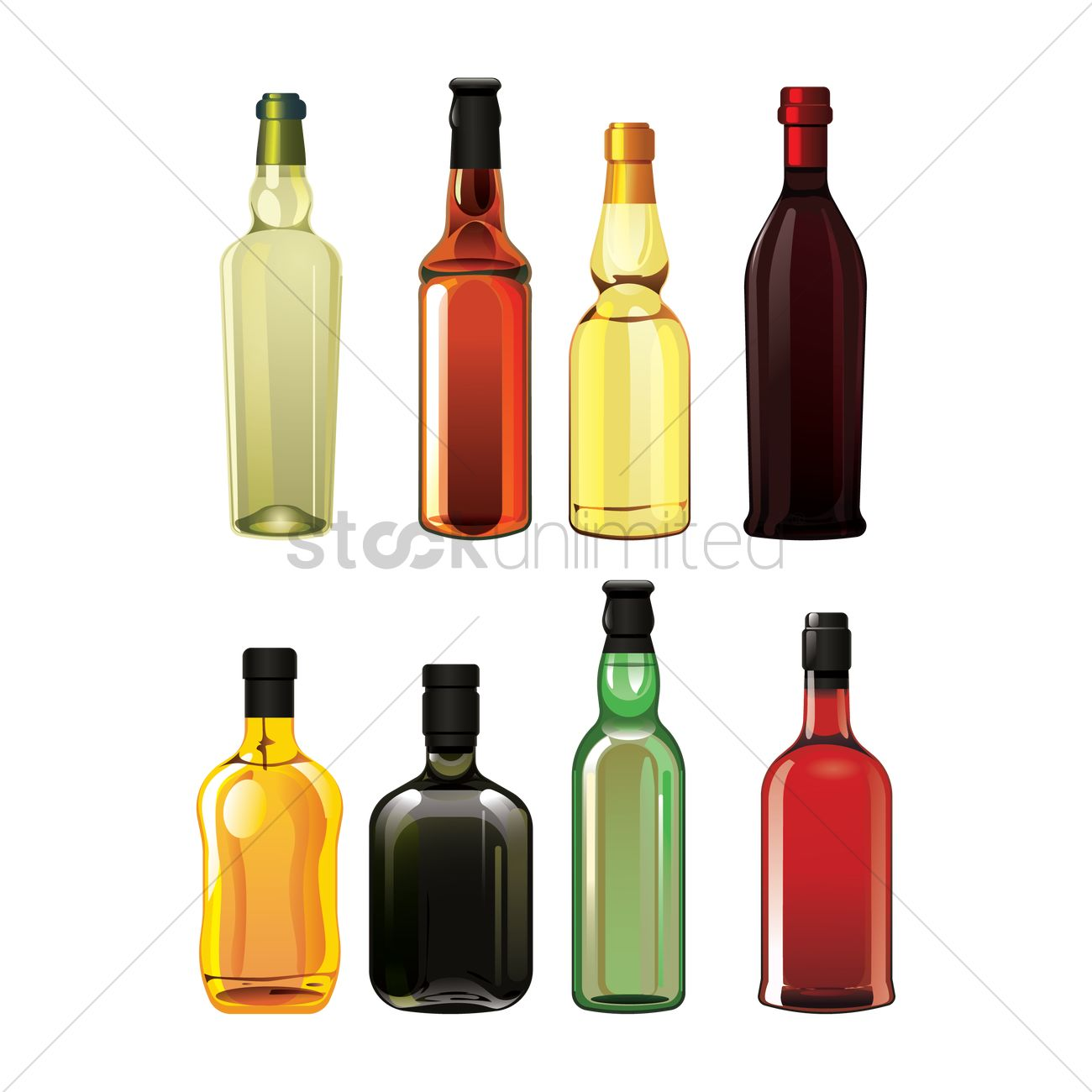 1300x1300 Set Of Liquor Bottle Icons Vector Image