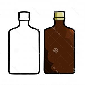 300x300 Stock Illustration Liquor Bottle Vector Illustration White