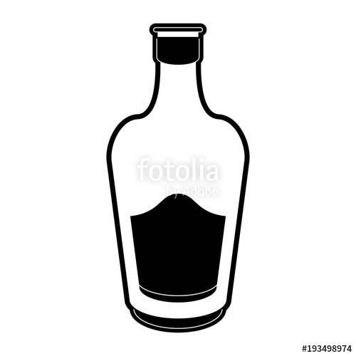 500x500 Liquor Bottle With Blank Label Icon Image Vector Illustration