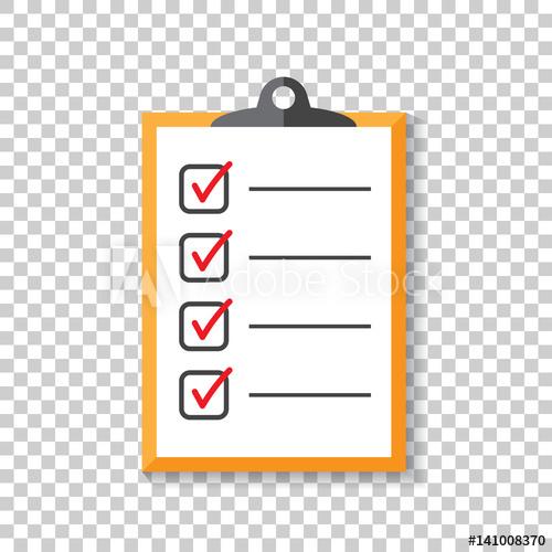 500x500 To Do List Icon. Checklist, Task List Vector Illustration In Flat