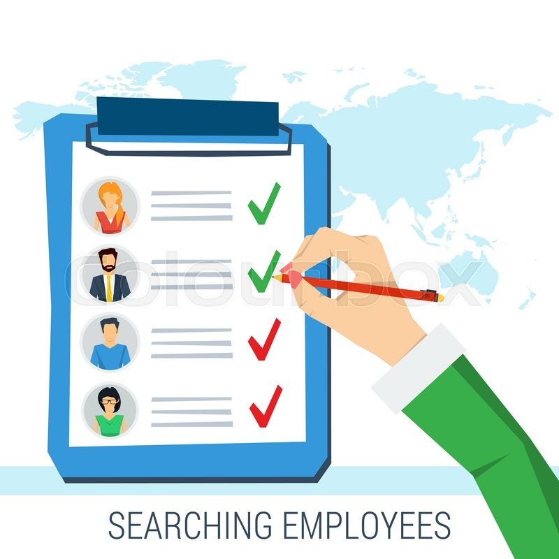 800x800 Vector Concept Employee Search. List Candidates To Work With