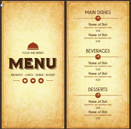 446x440 Vectors Free Download Modern Restaurant Menu Cover And List Vector 07