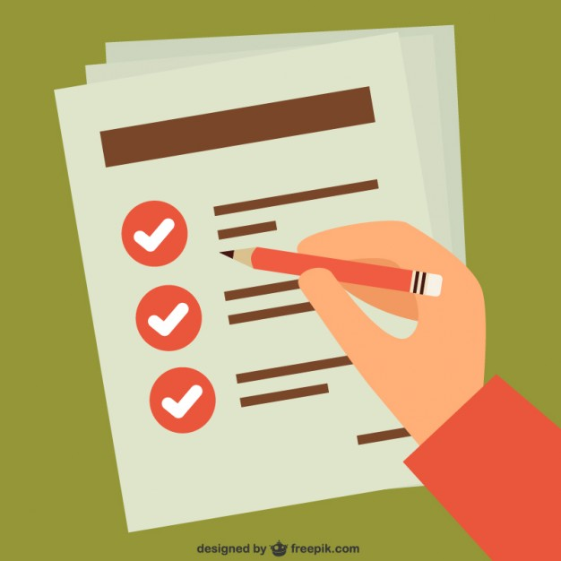 626x626 Checking Task List By Hand Vector Free Download
