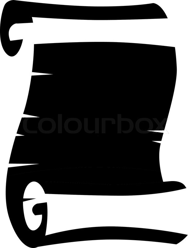 629x800 Curled List Of Old Ancient Paper Stock Vector Colourbox