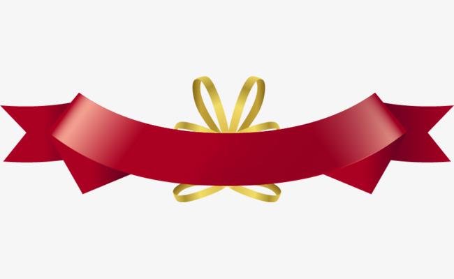 650x400 Vector Christmas Red Ribbon Tag, Christmas Vector, Ribbon Vector