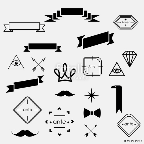 500x500 Hipster Set Stock Image And Royalty Free Vector Files On Fotolia