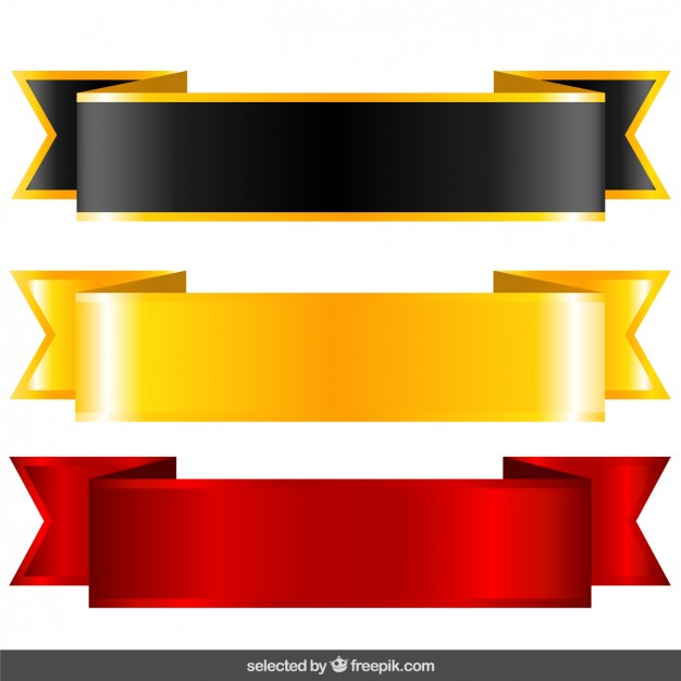 626x626 Black, Gold And Red Labels Vector Free Download