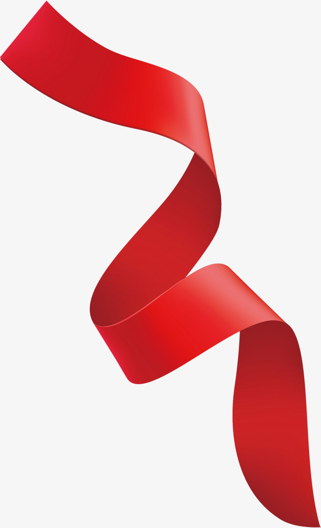 650x1068 Fine Red Curly Ribbons, Vector Png, Ribbon, Red Ribbon Png And