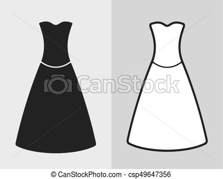 450x360 Dress. Vector Illustration Of Dress, Clothes Icon.