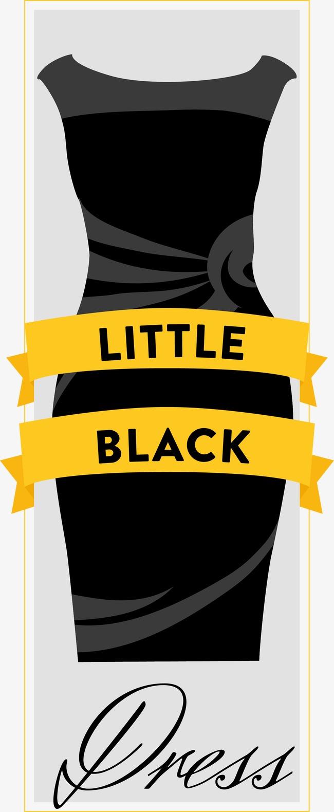 650x1580 Vector Little Black Card, Little Black Dress, Black, Card Png And