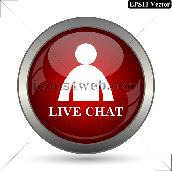 600x597 Live Chat Vector Icon. Live Chat Vector Button. Eps10